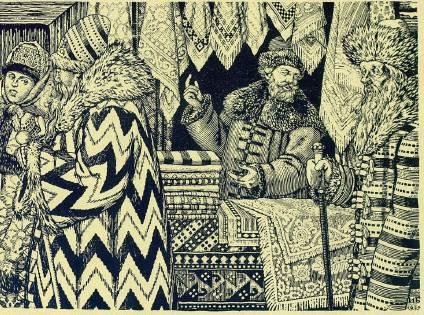 Песня про царя Ивана Васильевича, молодого опричника и удалого купца Калашникова (илл. И.Билибина) - _8.jpg